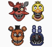 Five Nights at Freddy's 2 - Pixel art - Withered Classics Sticker pack by GEEKsomniac