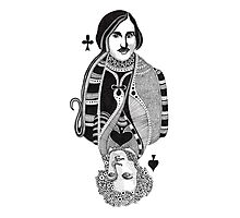 Gogol vs Pushkin Photographic Print
