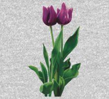 Two Purple Tulips Kids Tee