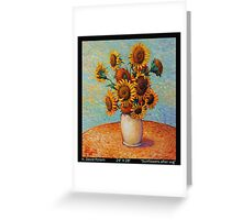 Sunflowers after VVG Greeting Card