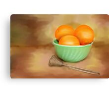 Fresh Oranges Canvas Print