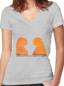 Sansa and Margaery Women's Fitted V-Neck T-Shirt