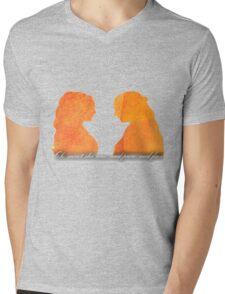 Sansa and Margaery Mens V-Neck T-Shirt