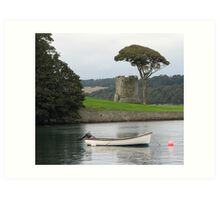 Tower and tree at Portaferry Art Print