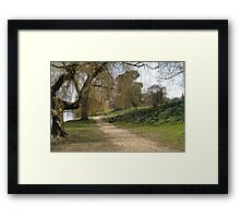 Solitary Seat on a Beautiful Spring Day Framed Print