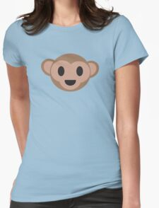 Monkey Face Womens Fitted T-Shirt