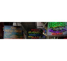 Bourbons Neon Signs Photographic Print