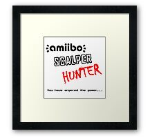 Amiibo Scalper Hunter OFFICIAL Framed Print