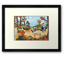 Bird Band Marching Through The Woods Framed Print