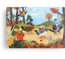 Bird Band Marching Through The Woods Metal Print