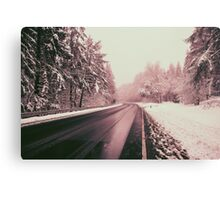 WINTER COUNTRY ROADS Canvas Print