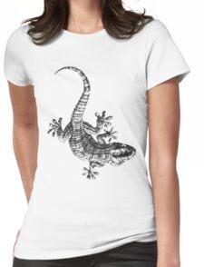 Wall Gecko Lizard Womens Fitted T-Shirt