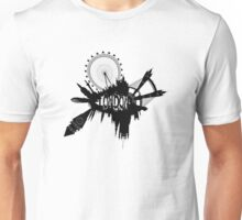 London Skyline In Grunge Style Unisex T-Shirt