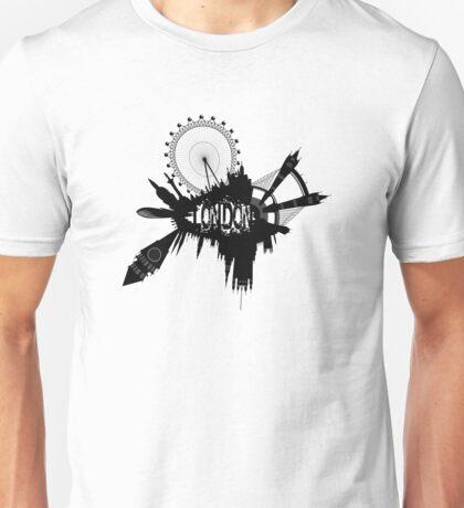 London Skyline In Grunge Style Unisex T-Shirt