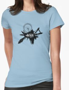 London Skyline In Grunge Style Womens Fitted T-Shirt
