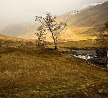 Scottish Highlands Rainbow by cieniu1