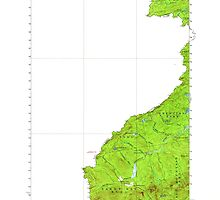 Maine USGS Historical Map Sandy Bay 460830 1927 62500 by wetdryvac