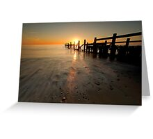 Happisburgh-sunrise Greeting Card