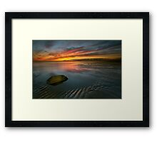 Allonby sunset Framed Print