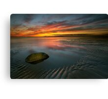 Allonby sunset Canvas Print