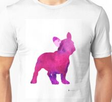 Pink frenchie painting watercolor art print Unisex T-Shirt