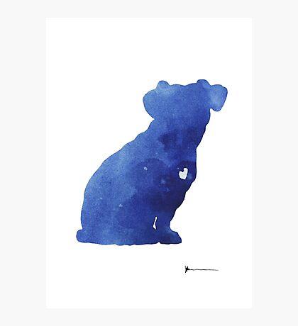Jack russel terrier watercolor art print painting Photographic Print