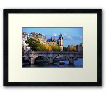 Paris - Le Pont Neuf en automne. Framed Print