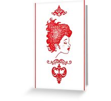 Fille Rouge Greeting Card