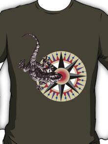 Gecko Lizard on Compass Rose T-Shirt