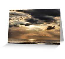 light from the heavens Greeting Card