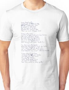 Ziggy Stardust lyrics Unisex T-Shirt