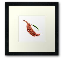 red chili pepper food photography Framed Print