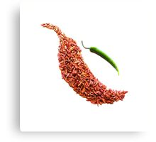 red chili pepper food photography Canvas Print