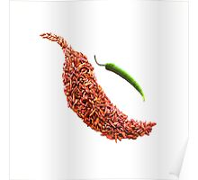 red chili pepper food photography Poster