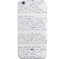 Ziggy Stardust lyrics iPhone Case/Skin
