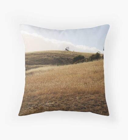 """Up on this high wild hill"" Throw Pillow"
