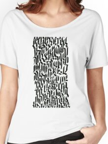 Rectangle calligraphy. Women's Relaxed Fit T-Shirt