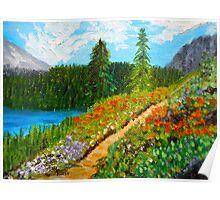 Day Escape, Colorado Mountains, Oil painting, wall art, home decor Poster