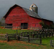 Waynesville Red Barn by Gary Pope