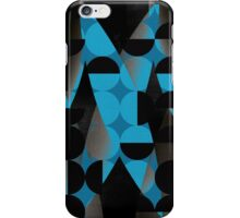 Geometry in blue iPhone Case/Skin