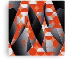 Geometry in red Canvas Print