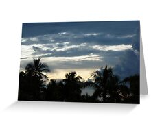 Tropical storm Greeting Card