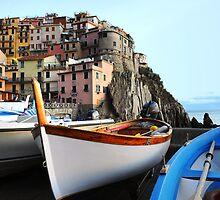 Boats in Vernazza by Monica Di Carlo