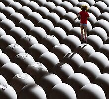 Walking on eggs by Chuck Uebele