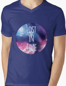 Purple Galaxy Mens V-Neck T-Shirt