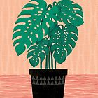 Cheese Plant - Trendy Hipster art for dorm decor, home decor, ferns, foliage, plants by Andrea Lauren