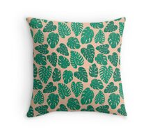 Cheese Plant - Trendy Hipster art for dorm decor, home decor, ferns, foliage, plants Throw Pillow