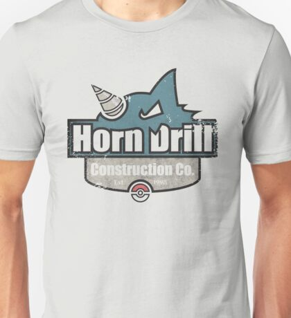 Pokemon - Horn Drill Construction Co. (Distressed) Unisex T-Shirt