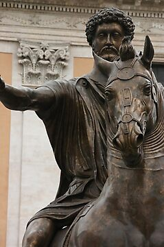 Marcus Aurelius	bronze equestrian statue by cascoly