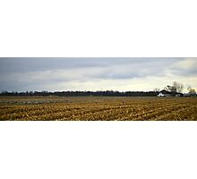 Indiana Farm with Cranes Photographic Print